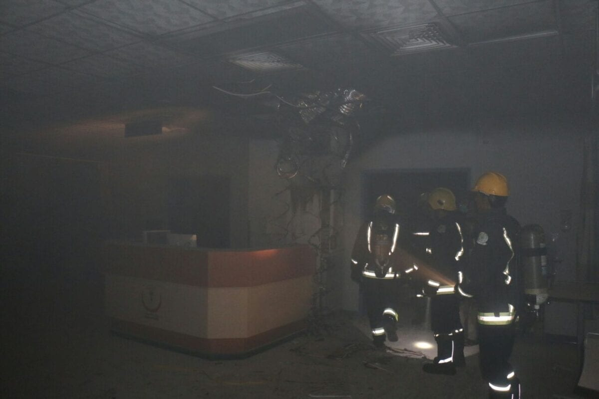 حريق في مستشفى الملك عبدالعزيز