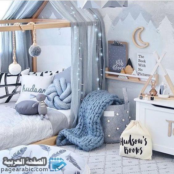 غرف نوم بنات زرقاء