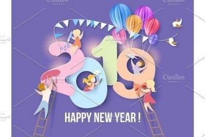 اجمل الصور للعام الجديد 2019 تهنئة السنة الجديدة 2019 كتابة تاريخ - الصفحة العربية