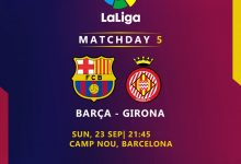 صورة ملخص اهداف مباراة برشلونة وجيرونا من الدوري الأسباني