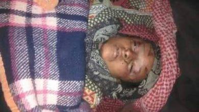 صورة وفاة طفل في تعز جراء سيول الأمطار