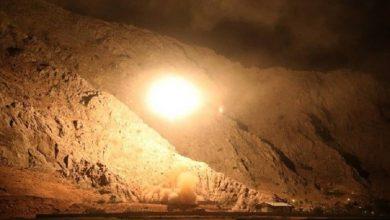 صورة ضربات إيرانية على سوريا يوم امس