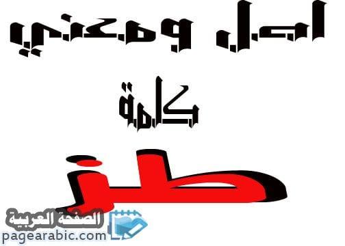 معنى كلمة طز وهل هي محرمة في الإسلام