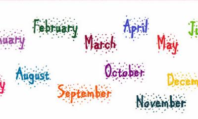 جدول اسماء الشهر بالانجليزي 8
