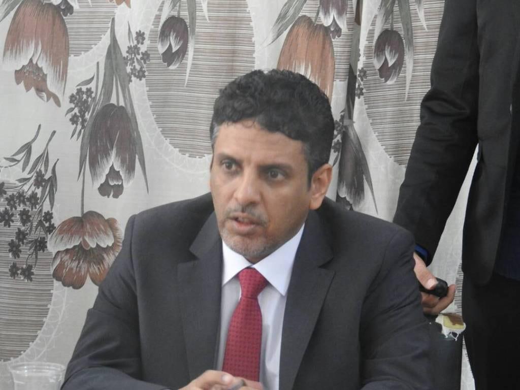صورة محاولة إغتيال راجح باكريت محافظ محافظة المهرة