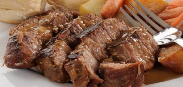 صورة طريقه عمل اللحمه البارده