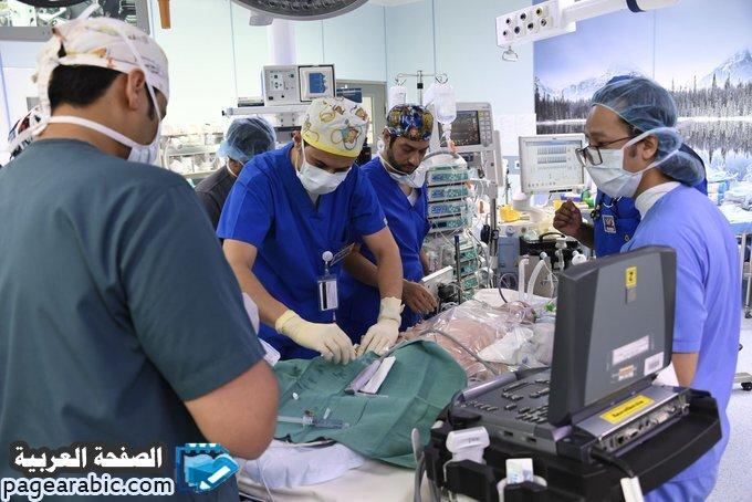 صور من عملية فصل التوأم السيامي الليبي بقيادة عبدالله الربيعة - الصفحة العربية