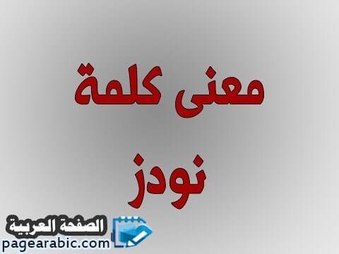 صورة نودز معنى كلمة نودز بالعربي nodes  إحذر ترجمه
