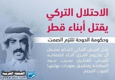 """تركيا تقتل شاعر قطري """" مشعل المري """" - الصفحة العربية"""