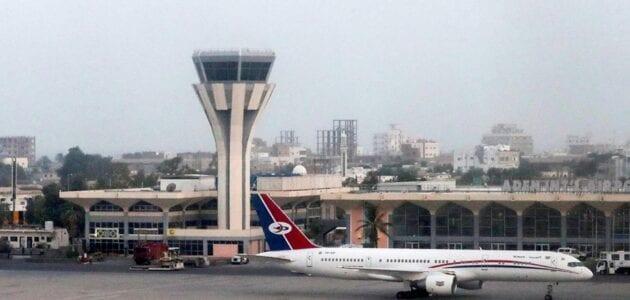 حقيقة وصول طائرة عسكرية إلى مطار عدن والريان وفتح مطار عدن