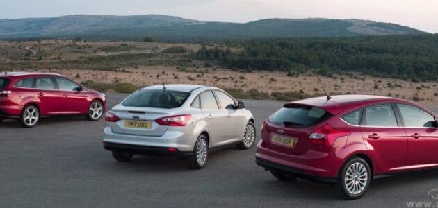 سيارة صور فورد فوكس Ford Focus 2013 فخامة باللونين الاحمر والفضي