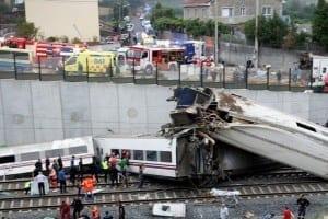 تحطكم قطار في اسبانيا Spain Train Crash