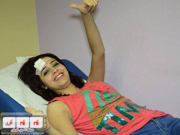 صور الطالبة رنا سماحة بعد تعرضها لحادث في استار اكاديمي 9