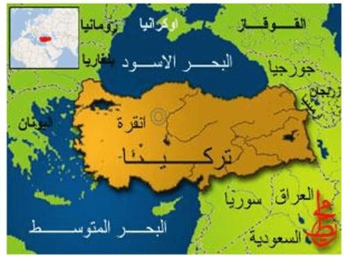صورة خريطة تركيا وحدودها مع شرح بالعربي الخريطة التركية 2021