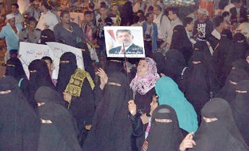 محاكمة الرئيس المصري محمد مرسي اليوم 8-1-2014